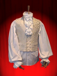 FRILLED MAN SHIRT TO BUTTONING AND LACE