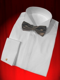 CHEMISE CEREMONIE COL CASSE ET PLASTRON PLISSE - SMOKING et QUEUE DE PIE