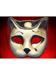 MASQUE CHAT de PIERROT COMEDIA PAPIER MACHE