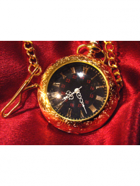 QUARTZ GOLDED-PLATED POCKET WATCH TNG