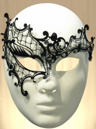 "METALLIC FILIGREED MASK ""GHOST OF THE OPERA"""