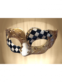 VENETIAN COLOMBINA MASK DECORATED, FOR SMALL FACES OR CHILDREN