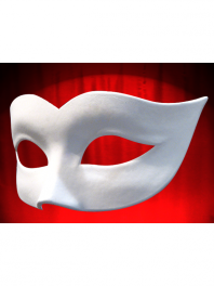 WHITE PLAIN COLOMBINA MASK VENICE