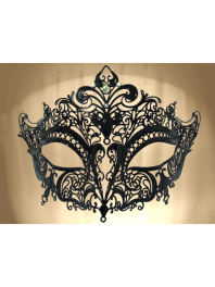 "VENETIAN FILIGREE COLOMBINA MASK IN METAL ""GIGLIETTO"""