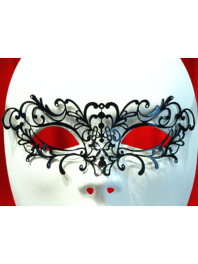 "VENETIAN FILIGREE COLOMBINA MASK IN METAL ""LA TATOO"""