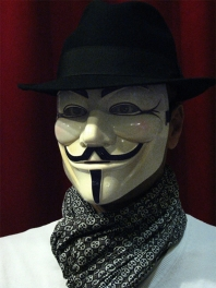 GUY FAWKES MASKIERE V WIE VENDETTA - ANONYMOUS-