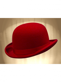 REAL BOWLER DERBY HAT RED HERMES