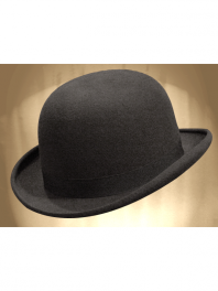 REAL BOWLER DERBY HAT GREY BROUILLARD