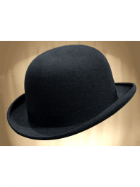 REAL BOWLER DERBY HAT BLU CABAN