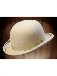 REAL BOWLER DERBY HAT OFF WHITE
