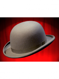 REAL BOWLER DERBY HAT MIDDLE GREY