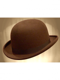 REAL BOWLER DERBY HAT BROWN MUSARAIGNE