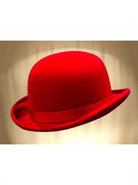 REAL BOWLER DERBY HAT RED PAVOT