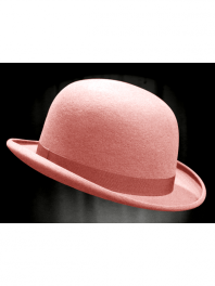 REAL BOWLER DERBY HAT CLEAR PINK