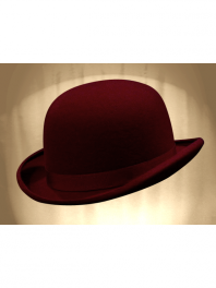 REAL BOWLER DERBY HAT BORDEAUX FRANCE