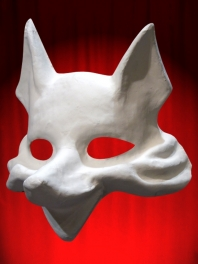 WHITE MASK BASE FOX TO BE PAINTED FOR WEARING