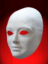 NEUTRAL COMPLETE FACE MASK in WHITE PAPER MACHE ED