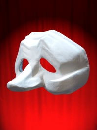 WHITE MASK COMEDIA DELL ARTE PULCINELLA 5 or ZANNI ED