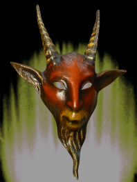 SATYR or BILLY GOAT MASK - PAPER MACHE