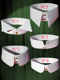 5 DETACHABLE OR REMOBABLE COLLARS