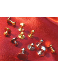 STUDS - BUTTONS REMOVABLE BRASS AND NICKEL-PLATED FOR SHIRT COLLARS and CUFFS