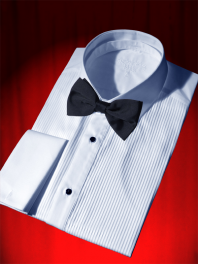 WEDDING 1900 SHIRT PLEATED BIB and DETACHABLE CLASSIC COLLAR
