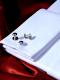 Weißes HEMD mit Kläppchenkragen und HEMDBRUST aus BAUMWOLL-PIQUE Unabhängiger Kragen