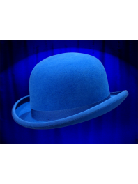 REAL BOWLER DERBY HAT BRIGHT BLU FRANCE