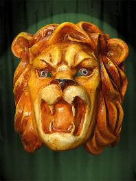 MASQUE GRANDE TETE de LION fait A VENISE en PAPIER MACHE