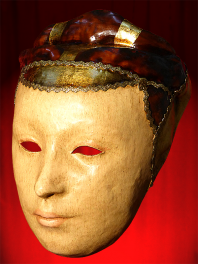 MASK OF VENICE PAPER MACHE - WOMAN FACE MEDICIS ERA RENAISSANCE
