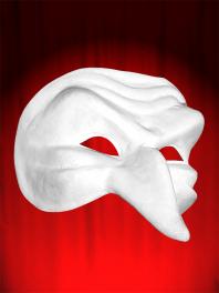 MASCARA COMEDIA DELL ARTE CAPITANO 2 K - pequeno ZANNI máscara blanca para pintar ED