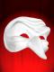 MASCARA COMEDIA DELL ARTE CAPITANO 2 K - pequeno ZANNI - mascara branca para pintar