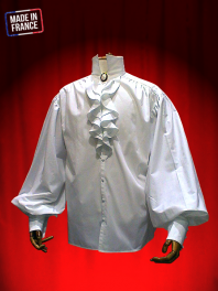 FRILLED SHIRT TO BUTTONING AND WITHOUT LACE