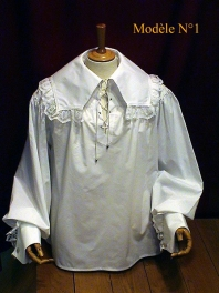 MAN SHIRT MUSKETEER WITH LACE