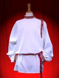 Camisa RUSA (en algodón) a  CINTA  GALONES