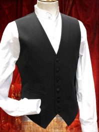 BLACK OR LINES SUIT VEST
